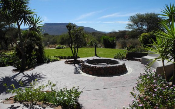 Accommodation with outdoor fire pits in the Waterberg Namibia area